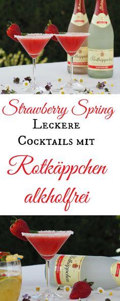 Leckere alkoholfreie Getränke mit Rotkäppchen alkoholfrei. Schnell gemixt und doch so lecker. Da kann man auf Alkohol wirklich verzichten. Es gibt einen Cocktails aus Erdbeeren und eine Bowle mit Früchten - ganz ohne Alkohol. Mit und ohne Thermomix herzustellen.