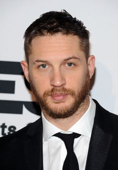 Short facial hair with suit