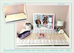 Antes/ Depois- Renovando a Escrivaninha - Fernanda Reali