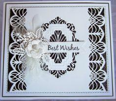 Sue Wilson Craft Dies - Gemini Dies - Cygnus 3 dies border or strip Hand Made Greeting Cards, Making Greeting Cards, Greeting Cards Handmade, Card Making Tips, Making Ideas, Gemini, Sue Wilson Dies, Spellbinders Cards, Card Companies
