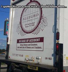 Wine truck humor