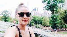 Messy bun New York City style Ray bans Keren swanson