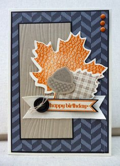 "White House Stamping: Freshly Made Pumpkin Leaves... **** SU ""Wonderfall"" image & ""Autumn Accents"" Bigz Die, 2012 Holiday Mini."