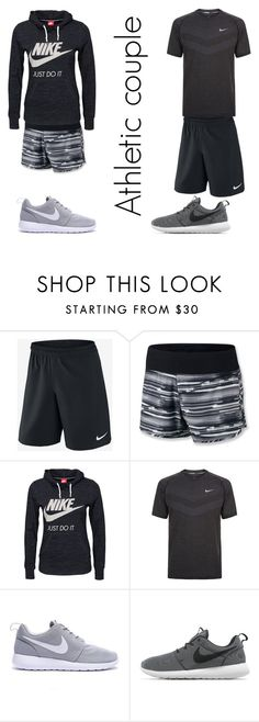 """""""Athletic couple"""" by xxfashi0nf0reverxx ❤ liked on Polyvore featuring NIKE"""