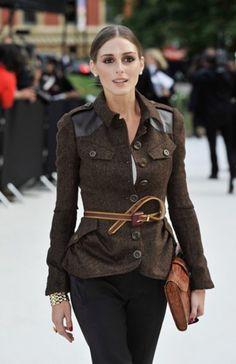 Love the coat & belt.