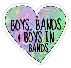 Boys, Bands & Boys in Bands sticker Tumblr inspired | Sticker