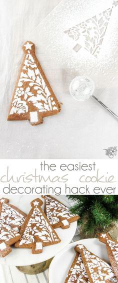 Cookie Decorating Hack, Christmas Cookie Decorating, Gingerbread Cookies