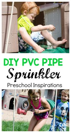 Make your own backyard DIY PVC pipe sprinkler and waterslide as a great water activity for your own backyard. It's the perfect way to cool off while outside.