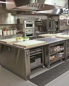 Modern Restaurant Kitchen Design Ideas 28 Time and again, I have heard it said that restaurant kitchen business is one of the most lucrative businesses you … Hotel Kitchen, Bakery Kitchen, Prep Kitchen, Kitchen On A Budget, Kitchen Decor, Pub Decor, Kitchen Mixer, Island Kitchen, Kitchen Furniture