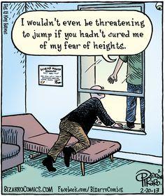 Therapy humor  Bizarro. Dan Piraro.