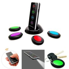 4 in 1 Advanced Wireless Key Finder Remote Key Locator, Anti-Lost with Torch function, 4 receivers and 1 dock buscador dominante