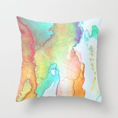 Abstract in Pastels Throw Pillow by foreverwars - $20.00