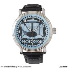 Ice Blue Hockey Watch Vintage Leather, Vintage Men, Pocket Watches, Personal Shopping, Out Of Style, Classic Looks, Cool Watches, Cyber, Portal