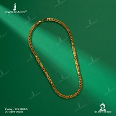22k Plain Gold Chain (26.08 gms) - Plain Gold Jewellery for Men by Jewelegance (JG-2103-00281) #myjewelegance #chain #jewelleryformen #goldchain #jewellerygoals Mens Gold Jewelry, Gold Jewellery, Gold Chains, Beaded Necklace, Diamond, Gold Jewelry, Beaded Collar, Pearl Necklace, Beaded Necklaces