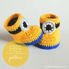 Crochet Minion Booties Pattern Is One Of Many