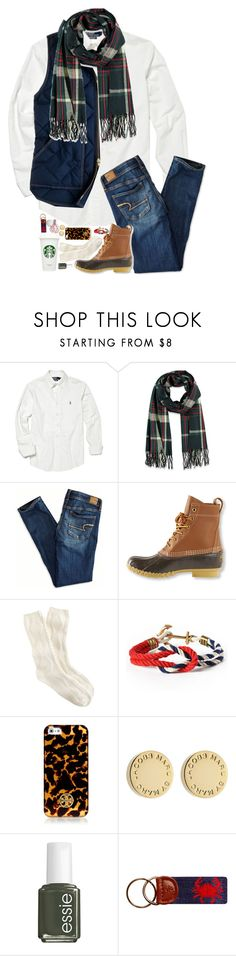 """""""NEW VIDEO // FALL LOOKBOOK 2015"""" by sperry-topsider ❤ liked on Polyvore featuring Polo Ralph Lauren, J.Crew, Forever 21, American Eagle Outfitters, L.L.Bean, Tory Burch, Marc by Marc Jacobs and Essie"""
