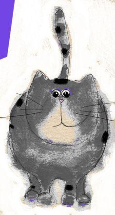 Gatto grigio. Silvana Cianciolo
