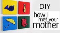 DIY: Quadros Decorativos Inspirados em HOW I MET YOUR MOTHER Tutorial Frame Decor
