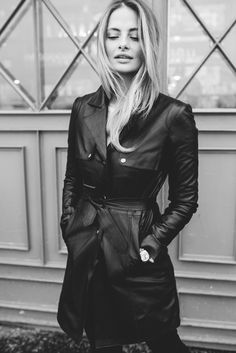 Leather trench coat / The OOTD Diary by Sofia Ruutu