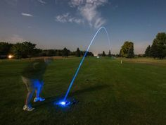 Motion Activated LED Golf Balls. New LED Golf Ball allows the player to start earlier and play later. If you love the game why not play all the holes you can. GetdatGadget.com/motion-activated-led-golf-balls-night-golf-anyone/