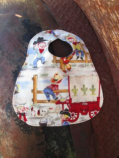 Round 'em Up Bib  Cowboy Bib  Handmade Bib  by DesignsbyDowning