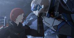 Mass Effect,фэндомы,ME gif,Femshep,Garrus,wei723