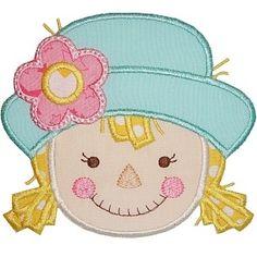 Scarecrow Girl Applique - Planet Applique Inc
