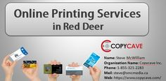 Online Cheapest Printing Company in Red Deer, Copycave is one of the cheapest among the printing companies in Red Deer, We offer high quality printing on flyers, business cards, booklet and much more.