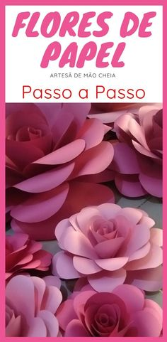 Tutorial Rosa, Giant Flowers, Paper Art, Boho Chic, Origami, Decoupage, Crafts For Kids, Tropical, Rose