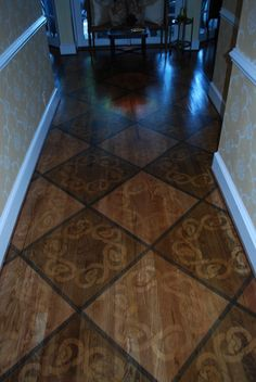 just the diamond pattern for the entryway hall
