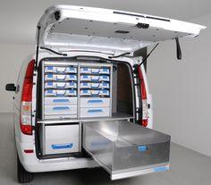 Van Storage, Tool Storage, Van Shelving, Shelves, Van Racking, Work Trailer, Vito, Custom Vans, Kit Cars