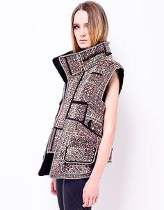 This mirrored Isabel Marant vest makes  us go GAGA GOOOO GOOOOO!!!!