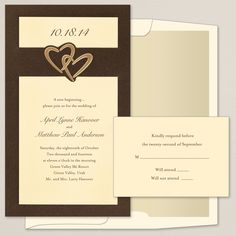 Heart Duet Wedding Invitation | #exclusivelyweddings