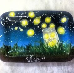 Make a wish on a firefly! Painted by the manager at our store.