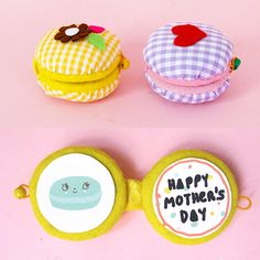 DIY No Sew Mother's Day Macarons Easy Homemade Gifts, Homemade Toys, Diy Craft Projects, Projects For Kids, Diy Crafts, Reuse Fabric, Donut Shape, Cute Kitchen, Creative Crafts