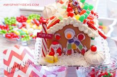 Gingerbread Decorating Party Ideas from AmysPartyIdeas.com
