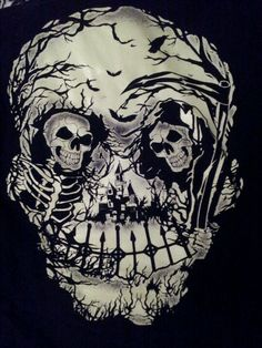 Optical Illusion Grim Reeper Skull