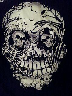 Optical Illusion Grim Reeper Skull