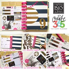 Track your goals, make important notes and celebrate 365 days a year with Me and My Big Ideas' Happy Planner!