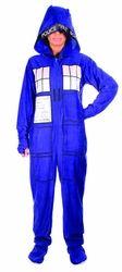Doctor Who Tardis 1-Piece Pajamas Size Medium