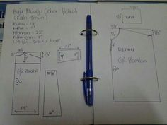 Baju melayu johor pelikat Sewing Hacks, Sewing Tutorials, Sewing Projects, Sewing Patterns, Projects To Try, Tutorial Sewing, Sewing Men, Pattern Making, Dress Making