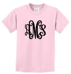 monogrammed shirt monogrammed tee shirt monogrammed tshirt monogrammed youth tee childrens tee childrens tee shirt