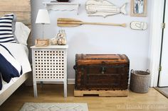 The antique chest is one of our most treasured pieces...and it holds all of our love letters!  via thinkingcloset.com