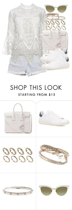 """""""Sin título #4014"""" by hellomissapple on Polyvore featuring moda, Levi's, Anna Sui, Yves Saint Laurent, Isabel Marant, ALDO y Gucci"""