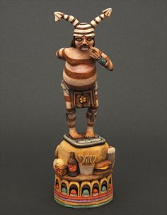 Clown Kachina Doll cost 4,800 by Ronald Honyouti (Hopi).