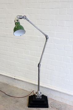 Industrial Floor Standing Task Lamp By Mek Elek Circa Vintage Industrial Lighting, Industrial Flooring, Task Lamps, 1930s, Table Lamp, Bulb, The Originals, Interiors, Home Decor