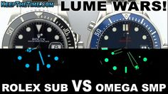 LUME WARS! Rolex Submariner vs. Omega Seamaster