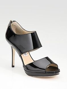 Jimmy Choo - Double-Band Patent Sandals