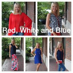 Red, White and Blue! We are ready to dress you for the 4th!