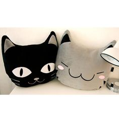 Lovely Happy Cat Head Plush Cushion Cute Animal Bed Pillow Study Chair Travel